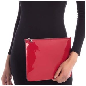 💯💖ALEXANDER MCQUEEN Red Patent Leather Pouch